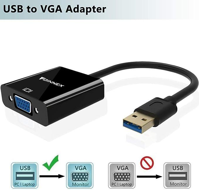 VGA Stecker auf Stecker Verl/ängerungskabel Konverter f/ür PC TV Monitor