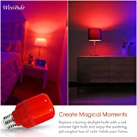 Red Light Bulb,LED Night Light, Bedroom Bulb, Create Atmosphere, Help Sleep, Toilet Lighting at Night, Two Pack