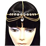 Amazon Price History for:Gold Tone Womens Tear Drop Rhinestone Accent Head Chain Jewelry