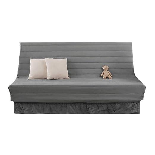 Deconovo Fundas para Sofas 2 Plazas sin Brazos 90 x 60 x 190 cm Gris Claro