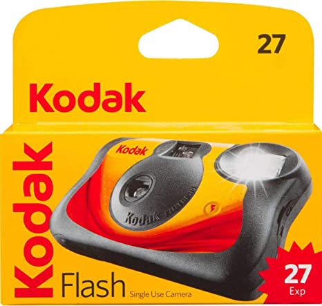 Kodak Flash Single Use Camera 27 Exposures Capture Your Memories, Red/Black(8053415) by Kodak