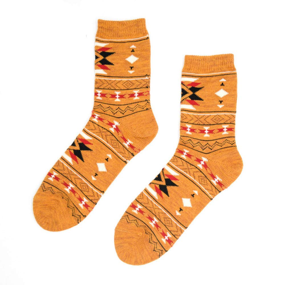Compression Socks 10 Pairs Autumn Winter Retro Warm Short Socks Women Fashion Colorful Funny Socks Female Ankle Cotton Sock Thicken Harajuku Yellow by TIGERROSA