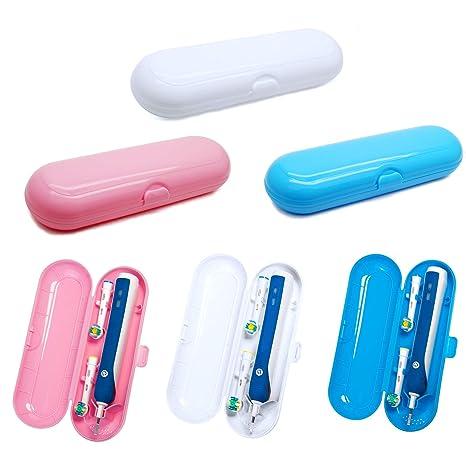 Estuche de plástico Aptoco para cepillos de dientes eléctricos y cabezales Braun Oral-B y Philips, color aleatorio