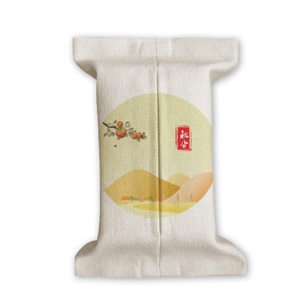 DIYthinker Autumnal Equinox Twenty Four Solar Term Tissue Paper Cover Cotton Linen Holder Storage Container Gift
