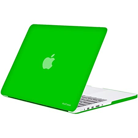 AirPlus Retina 13 inch Neon Series Satin Finish Hard Case Shell Cover for Apple MacBook Pro 13.3 with Retina Display [Screamin' Green] Laptop Sleeves
