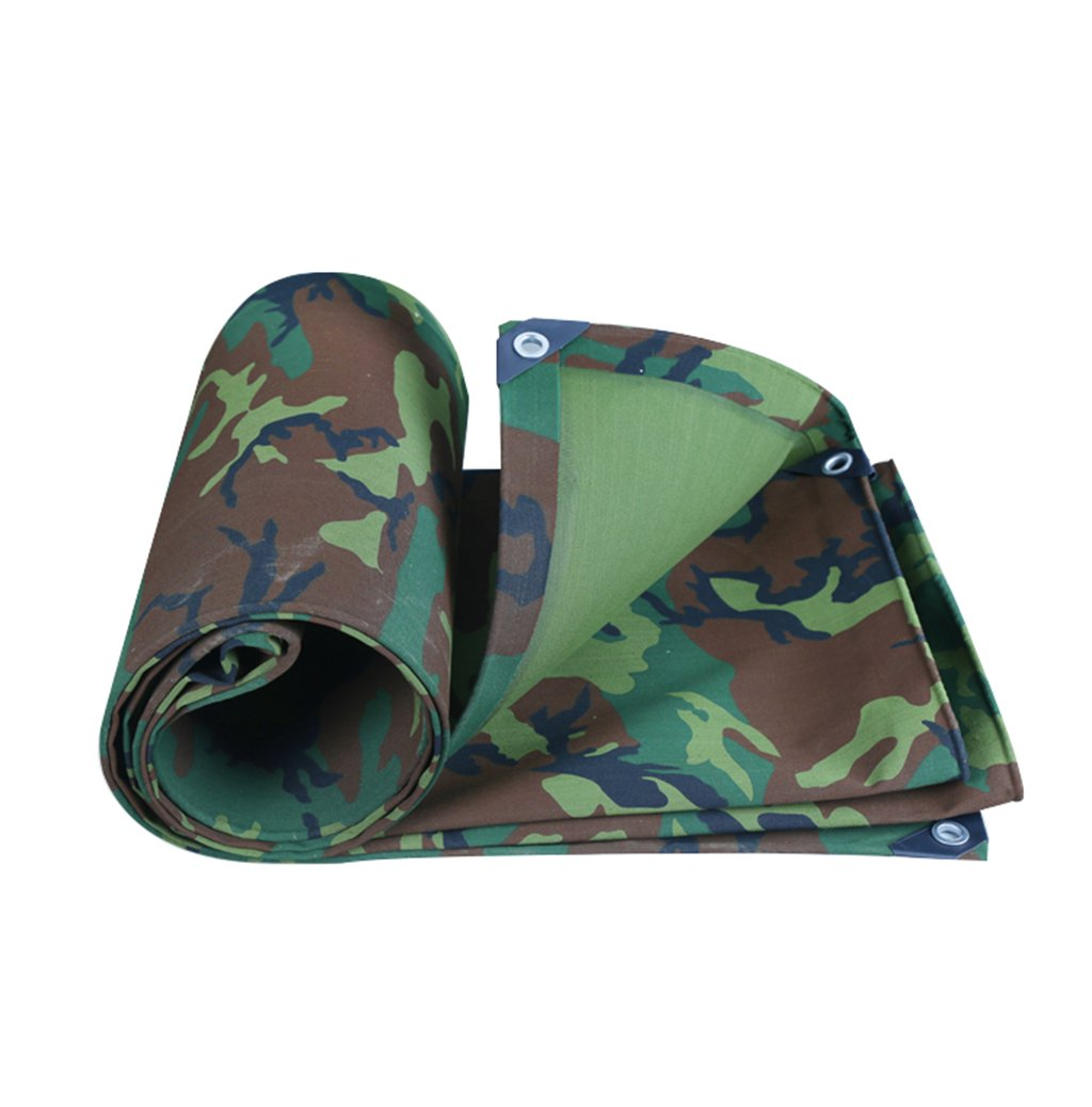 3x6M FEI Teng Thicken 0.7mm Tarpaulin Tent Camouflage Canvas Waterproof Sunscreen Tarpaulin Tent High Density Weave Durable ++ (Size   3x6M)