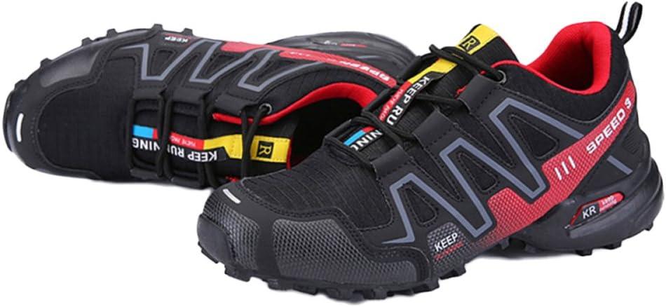 Zapatos De Trail Running para Hombre Cómodo Lace Up Lighten Zapatillas De Senderismo Antideslizantes De Verano Al Aire Libre De Malla Transpirable Zapatillas De Deporte: Amazon.es: Zapatos y complementos