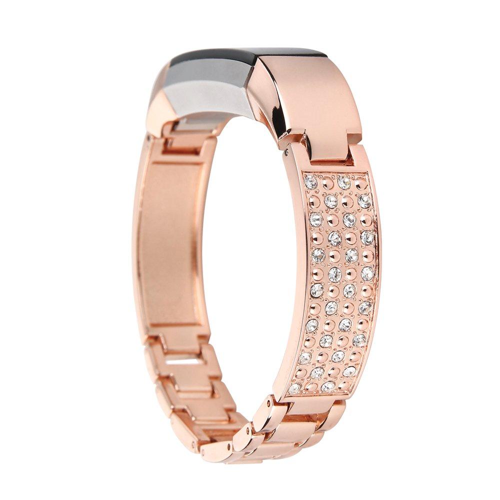 YPYS Fitbit Alta HR and Alta Bracelet,Metal Band Strap for Fitbit Alta/Fitbit Alta HR Wristband Bangle