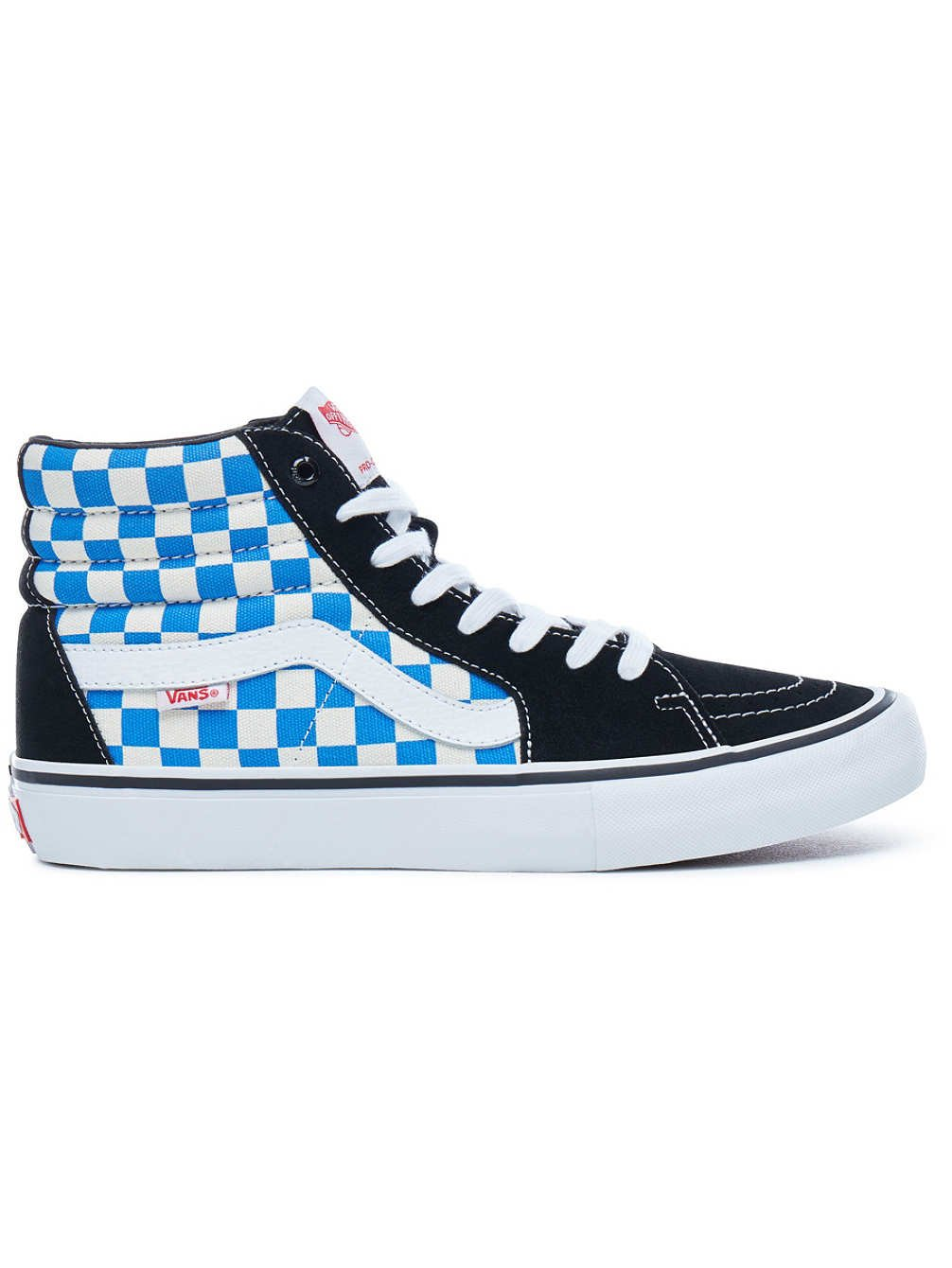 7903b26e6d33 Galleon - Vans Sk8-Hi Unisex Casual High-Top Skate Shoes ((Checkerboard)  Black Victoria Blue