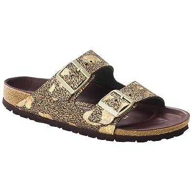 6c07c2d52b2 Birkenstock Women s Arizona Lux Sandal Spotted Metallic Brown Size 37 ...