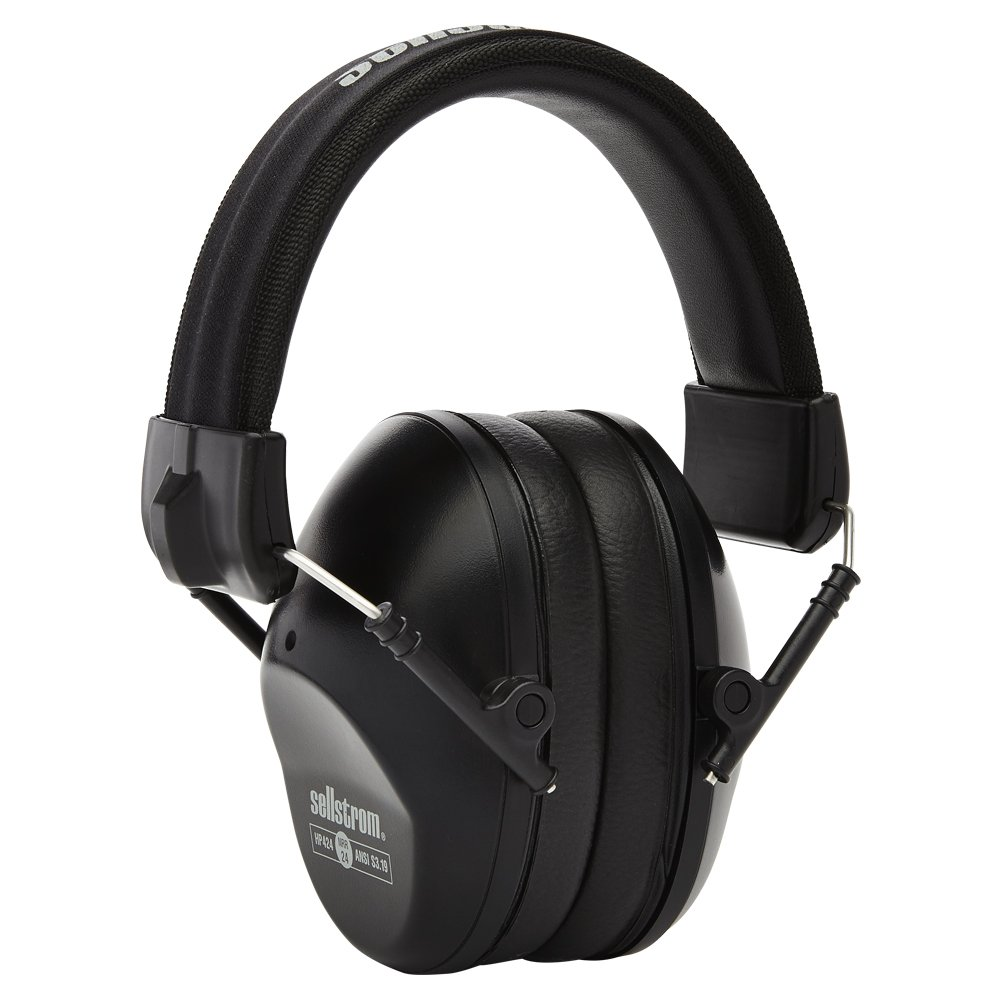 Sellstrom S23403 Noise Cancelling Ear Muffs, 24dB NRR, Universal Fit, Soft EVA Foam, Lightweight, Black