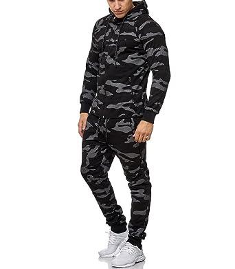 énorme inventaire matériau sélectionné sortie en vente MonsieurMode - Ensemble Jogging Camouflage Survêtement M-658 ...