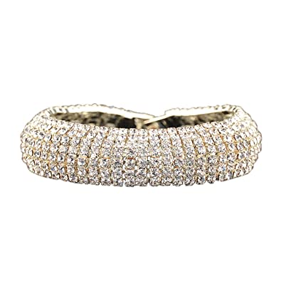 f3ca1d0c0 Color: Elegant and Sparkly Rhinestone Bracelet.Crystal Tennis Bracelet for  Women.Gold or Silver Plated