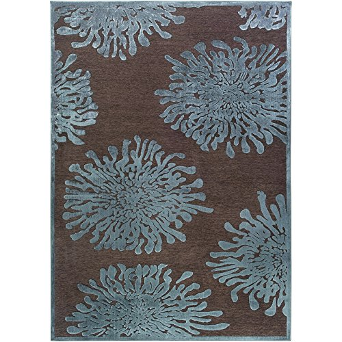 Surya Basilica BSL-7159 Contemporary Machine Made 60% Viscose / 40% Acrylic Chenille Espresso 5'2