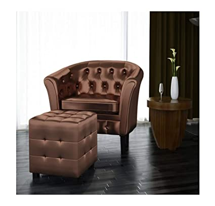 Terrific Amazon Com Lapha Artificial Leather Tub Sofa Chair Back Bralicious Painted Fabric Chair Ideas Braliciousco