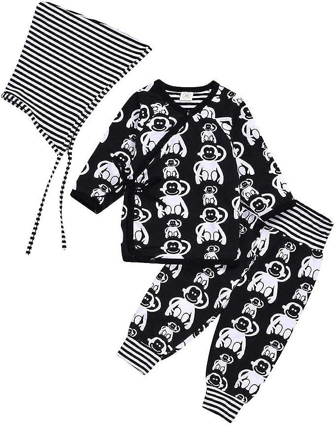 K-Youth Pajamas Niños Conjunto Bebe Niño Navidad Mono Chandal Bebe ...