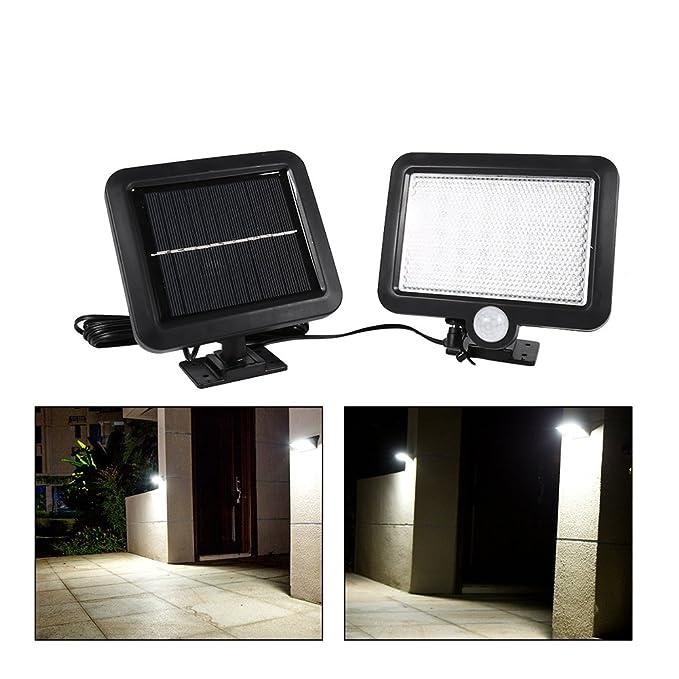 Fdit 56 Led Luces Solares Aire Libre Detector de Movimiento Solar Sensor Luz Solar Powered Jardín Lámpara de Seguridad Montado en Pared: Amazon.es: Hogar