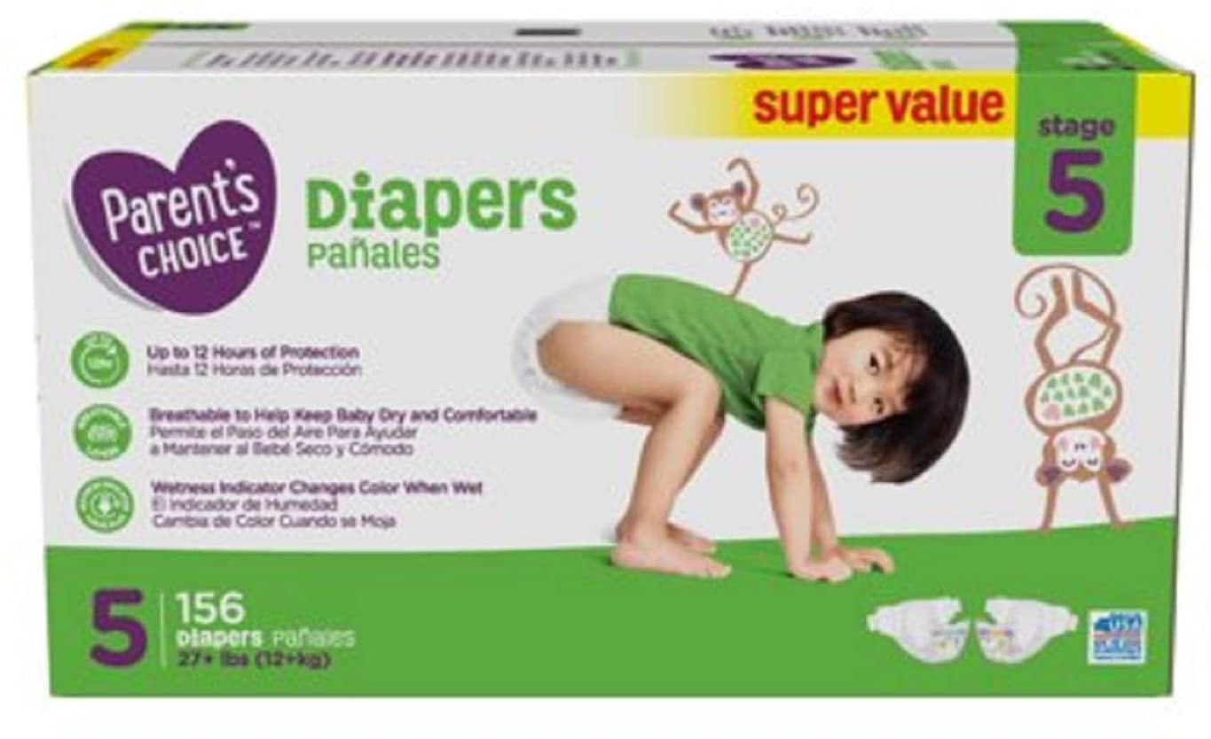 parents choice diapers size 5 small pack