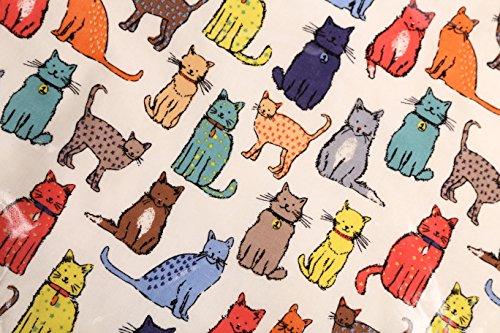 Ulster Weavers - Salvietta con calendario del 2014, motivo gatti, Blue, medium