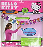 "Adorable Hello Kitty Rainbow® Jumbo Add-An-Age Letter Banner Birthday Party Decoration (1 Piece), Multi Color, 10 1/2' x 10""."