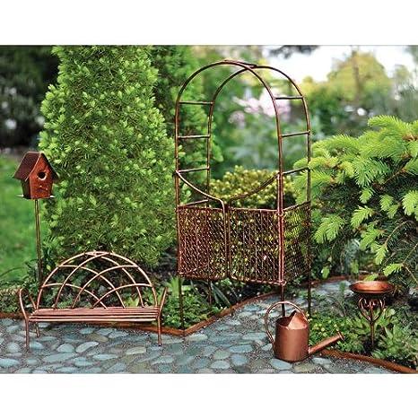 Georgetown Fiddlehead Fairy Garden Accessories Set