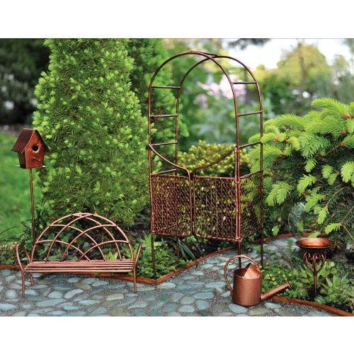 Arbor Swing Set - Georgetown Fiddlehead Fairy Garden Accessories Set