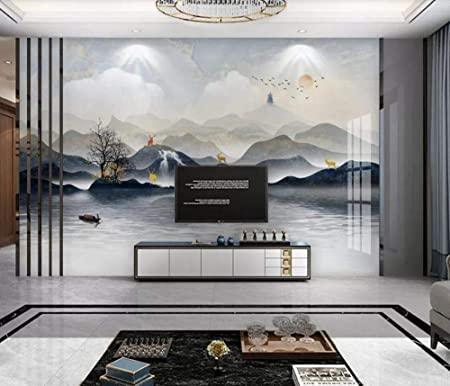 Wallpaper 3d Custom Chinese Landscape Marble Abstraction Wall