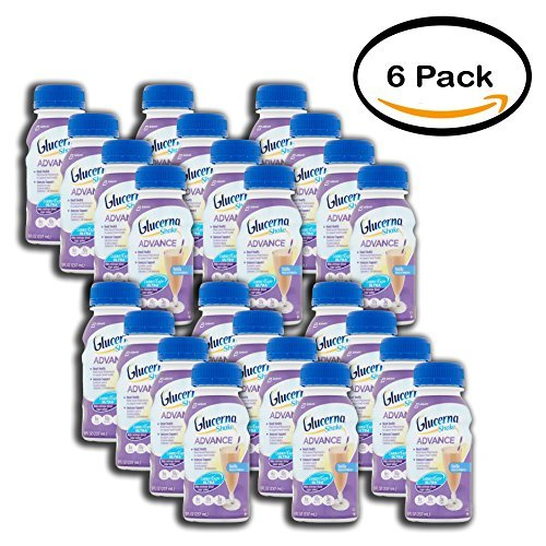 Advance Shake, Vanilla, 8 fl oz (4 counts) (Diabetes 8 Fl Oz Bottles)