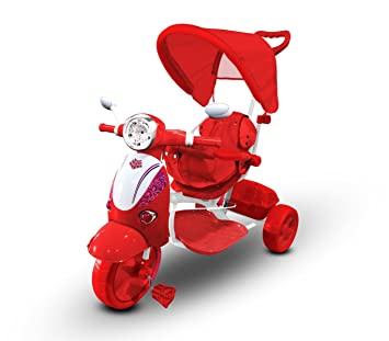 LT 854 Triciclo con pedales para bebés con3 canciones integradas en capota varios colores (Rojo): Amazon.es: Juguetes y juegos