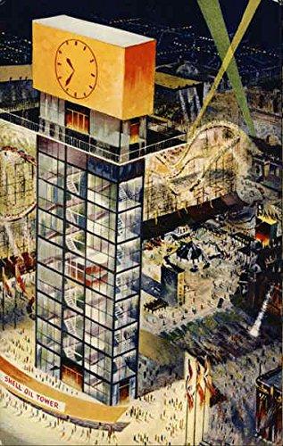 shell-oil-tower-canadian-national-exhibition-toronto-ontario-canada-original-vintage-postcard