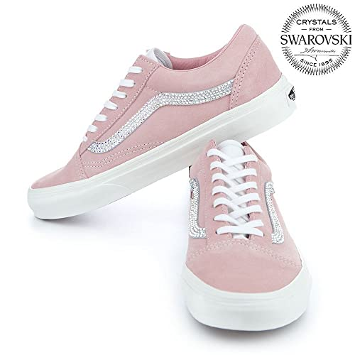 Vans old skool Womens shoes, Bling Vans shoes for women, Swarovski Vans, Custom vans shoes, Vans off the wall, Vans authentic, Vans slip on, Pink Vans, Glitter vans old skool