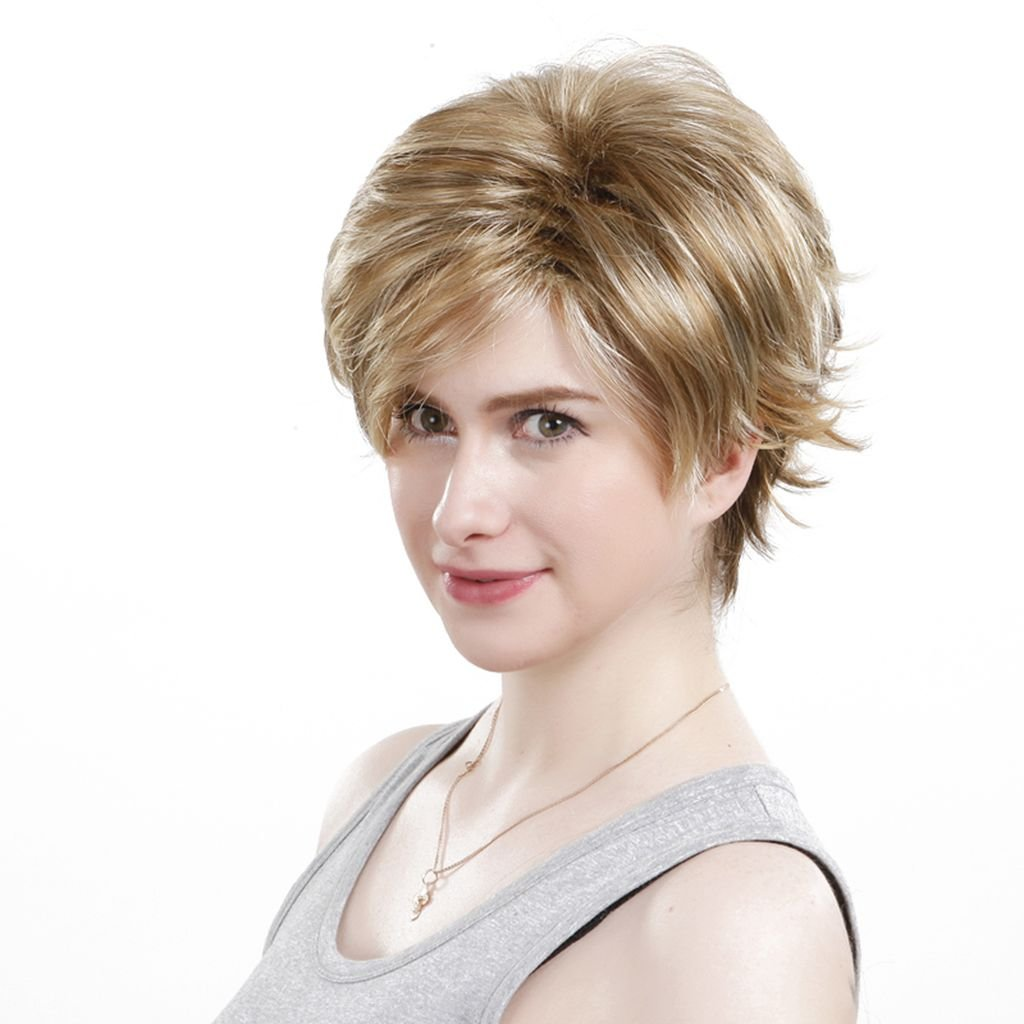 Amazon.com : ACVIP Womens Short Synthetic Hair Full Wig (Brown 1) : Beauty