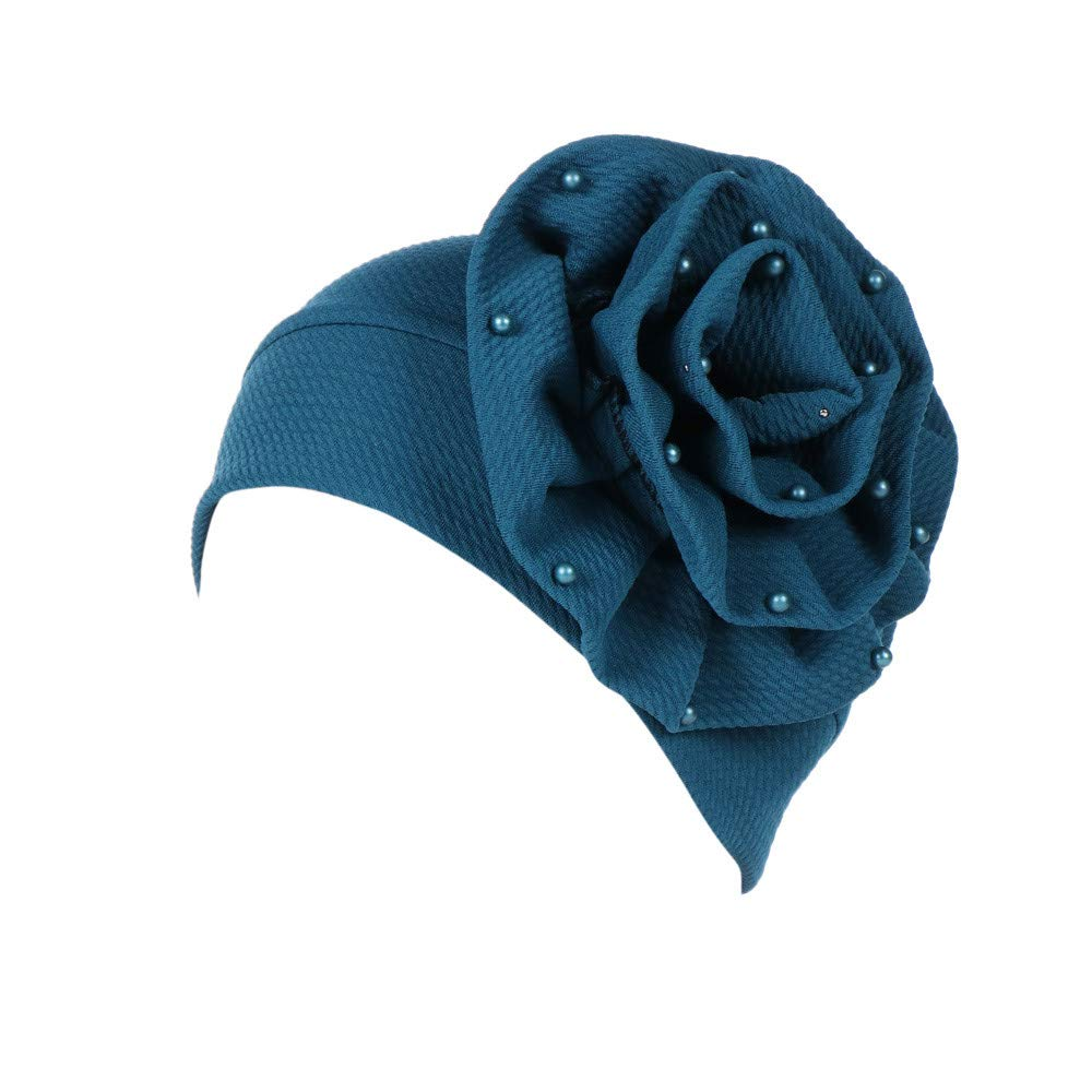 fca304707c867 ... Women Beading India Hat Muslim Ruffle Cancer Chemo Beanie Scarf Turban  Wrap Cap by Teresamoon Teresamoon ...