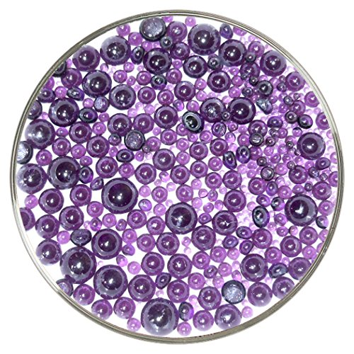 Violet Transparent Frit Balls - 96COE, New Larger 1oz Size - Made from System 96 Glass