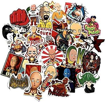 50 Unids/Pack One-Punch Man Anime Cartoon Sticker Skateboard ...
