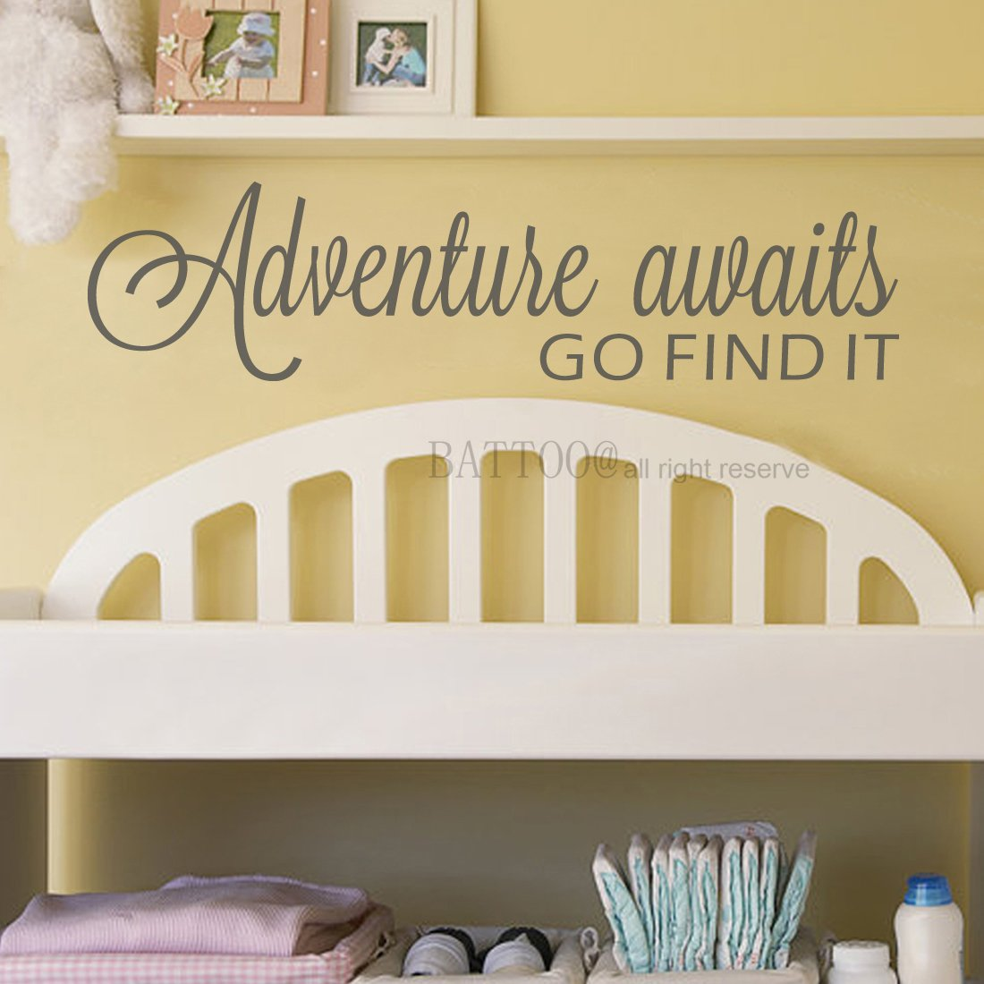 Amazon.com: BATTOO Adventure Awaits Wall Decal Stickers Adventure ...