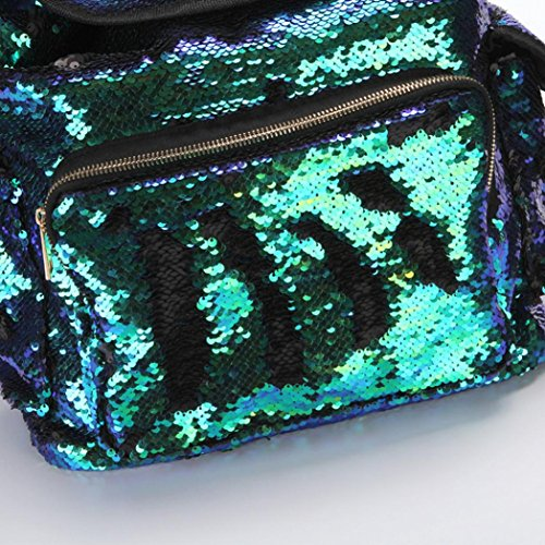 Sequin Casual School Bag FashionDouble Green Bag Color Backpack Girls Cute Soft Shining Sports Drawstring Backpack Bag LILICAT Backpack Women Bling Mermaid Fashion Bag xUq8Ynpw