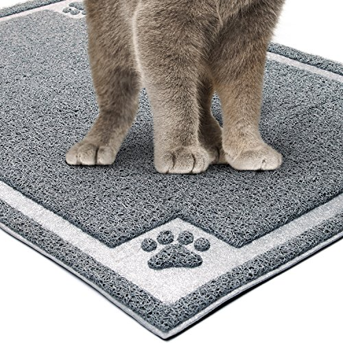 GeekDigg Kitty Litter Mat, 35x23.5 Inches Kitte...