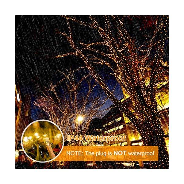 BACKTURE Catena Luminosa Natale, 25M 200 LED Stringa Luci con Adattatore di Alimentazione, 8 Modalità e Luminosità Impermeabile IP44, Decorative per Interno o Esterno Casa Festa Matrimonio 5 spesavip