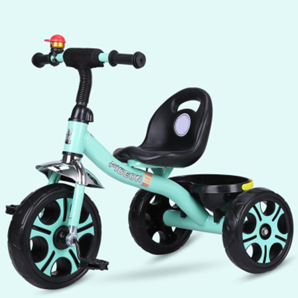 HAIZHEN マウンテンバイク 子供の三輪車1-6歳の軽量自転車非膨張防爆フォーム車輪自転車 新生児 B07DLC5KTM 緑 緑