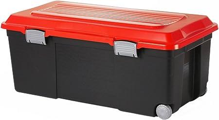 Sundis 7682024 Malle De Rangement Avec Roues Camper Plastique Noir Rouge 75l Amazon Fr Cuisine Maison