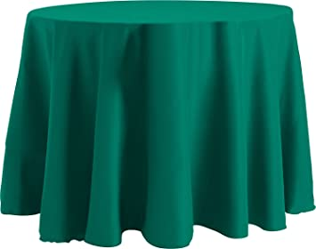 Beau 70 X 120 Inch OVAL Tablecloth, Flame Retardant Basic Polyester, Teal