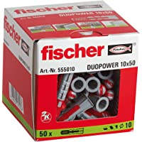 fischer DUOPOWER 10 x 50, universele pluggen, krachtige 2-componenten pluggen, kunststof pluggen voor bevestiging in…