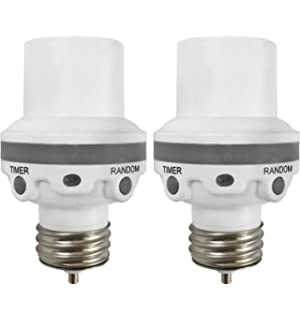 Westek Programmable Light Control For Indoor / Outdoor Lighting, 2 Pack - Automatically Control Inside