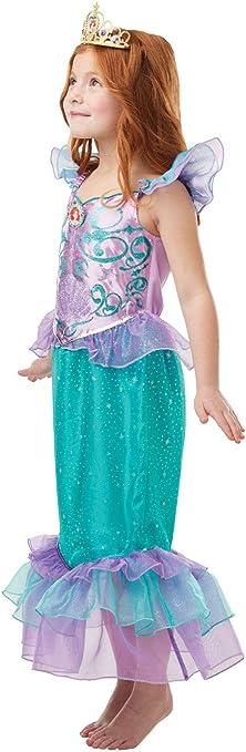 Rubies Disfraz oficial de la princesa Ariel con purpurina y brillo ...