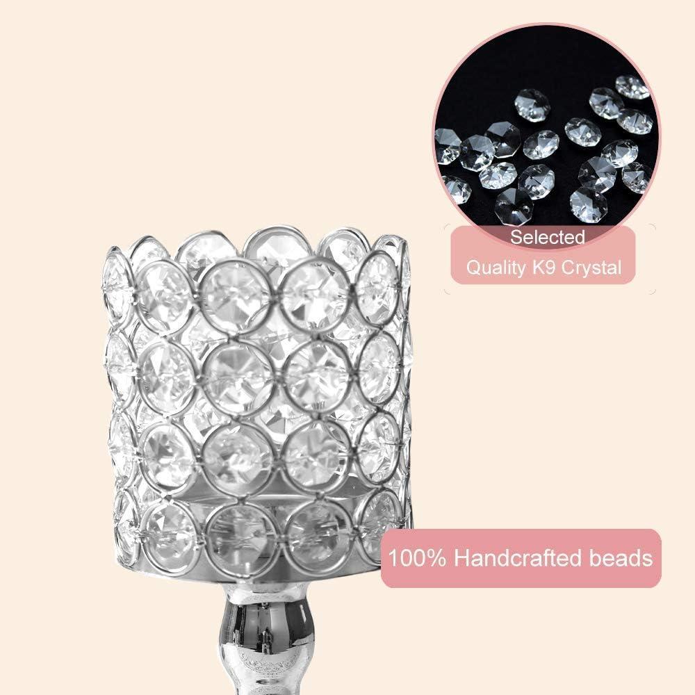 VINCIGANT Chandeliers en Cristal pour la Table Basse d/écorative de Table Basse de Mariage Anniversaire Saint Valentin argent/é 25cm /& 30cm