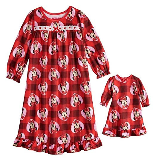 773821c04 Disney s Minnie Mouse Plaid Granny Nightgown   Matching Doll Gown - Toddler  Girl