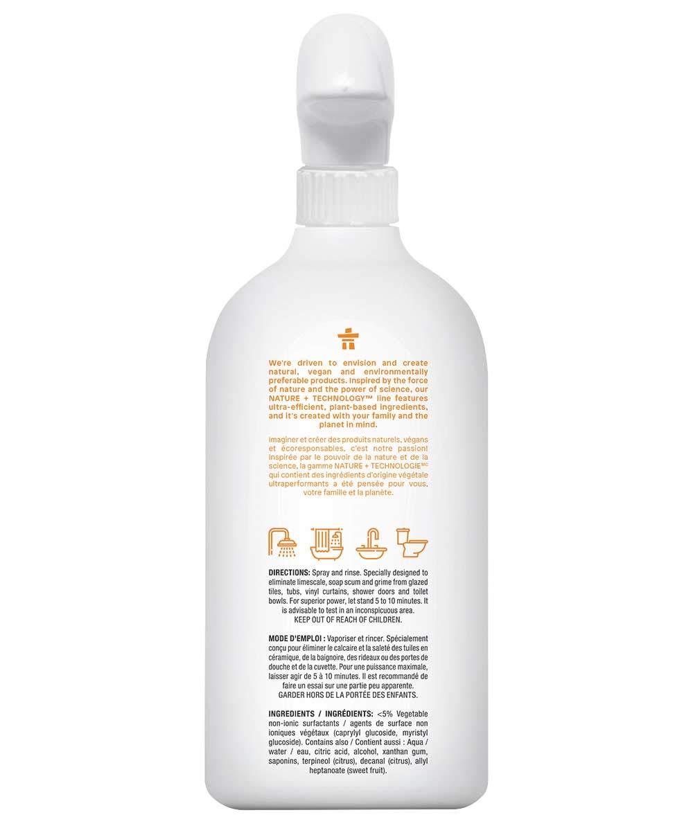 ATTITUDE Nature +, Hypoallergenic All Purpose Bathroom Cleaner, Citrus  Zest, 27.1 Fluid Ounce