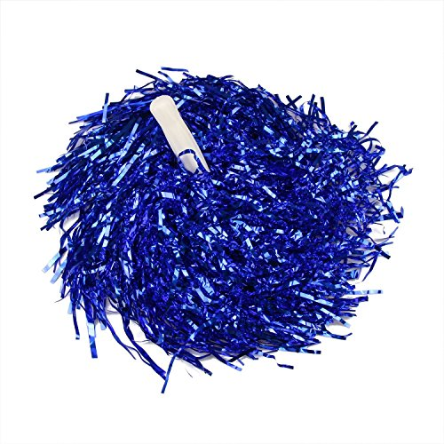 MXXGMYJ Blue Plastic Cheerleader Cheerleading Pom Poms Party Costume Accessory Set Ball Dance Fancy Dress Night Party Sports Pompoms Cheer 1pair]()