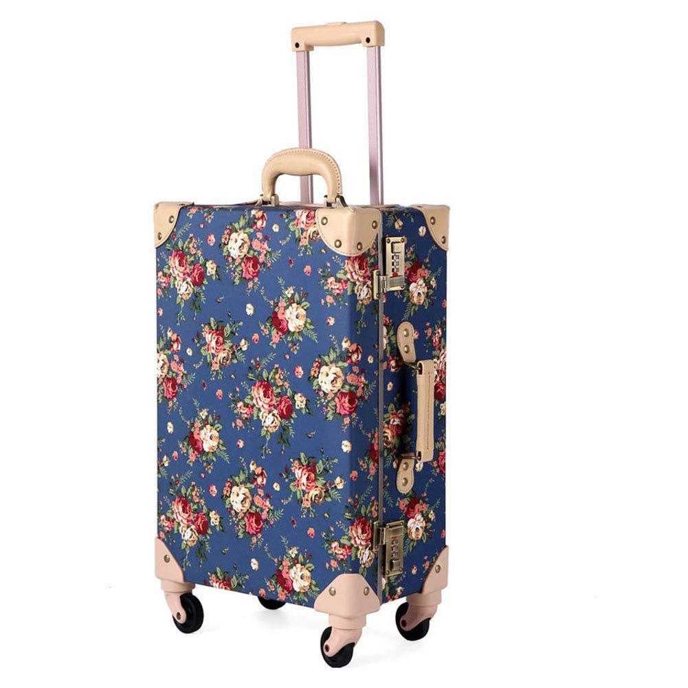 ハードトロリーケース、ユニバーサルホイール軽量PPスーツケース、TSA税関パスワードロックスーツケース、出張旅行-blue-L B07V1STCBB blue Large